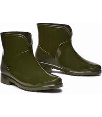 botines de lluvia zara impermeables stretch  mujer verde
