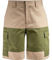 msgm printed cargo shorts