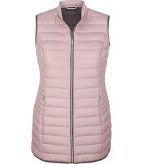 bodywarmer miamoda grijs::roze