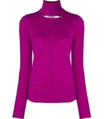 chalayan split neck sweater - pink