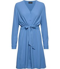 slfnanna-damina ls short dress b jurk knielengte blauw selected femme