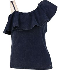 garcia one shoulder denim top