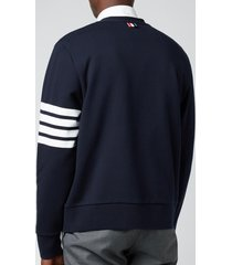 thom browne men's engineered 4-bar stripe loopback cardigan - navy - 3/l