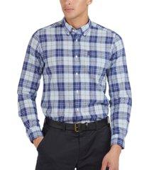 barbour men's textured plaid shirt