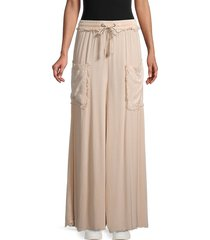 free people movement women's sure thing palazzo pants - dusty coral - size s