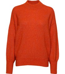 phoenix knit loose o-neck gebreide trui oranje second female
