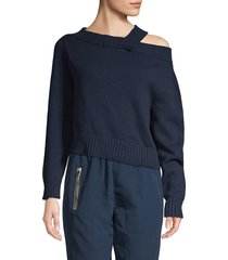 rta women's becket off-the-shoulder sweater - navy - size s