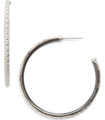 women's armenta old world midnight hoop earrings