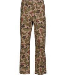 halvard trousers casual broek vrijetijdsbroek multi/patroon wood wood