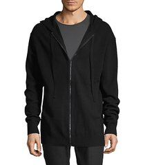 graphic wool & cashmere-blend hoodie