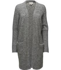 kiki short cardigan gebreide trui cardigan grijs inwear