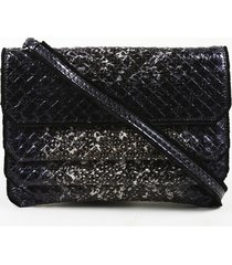 bottega veneta snakeskin crossbody bag