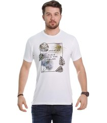 camiseta javali branca palm