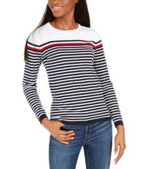 tommy hilfiger colorblocked striped sweater