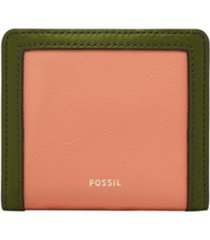 fossil women's logan small bifold leather wallet