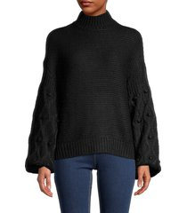 rd style women's high neck sweater - black - size xs