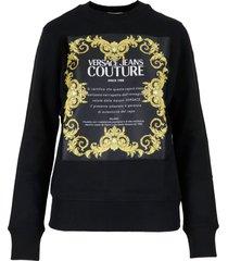 versace jeans couture cotton sweatshirt