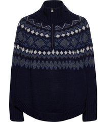 poncho knitwear christmas sweaters blauw rosemunde