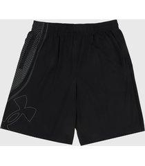 pantaloneta negro under armour tech logo