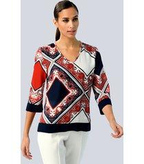blouse alba moda rood::marine
