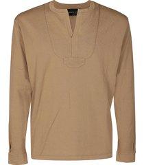 roberto collina camel brown cotton top