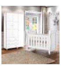 berço de bebe com colchão e guarda roupa branco ariel/ceci