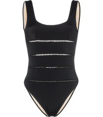 she made me mama scoop neck swimsuit - black