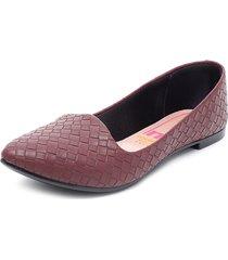 zapato plano burdeo moleca