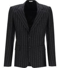 alexander mcqueen lurex pinstripe wool blazer