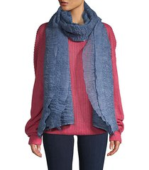 textured ruffle-trimmed scarf