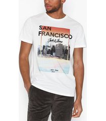 jack & jones jorcool city tee ss crew neck t-shirts & linnen vit