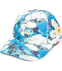 kenzo x vans floral-print logo cap - white