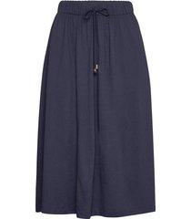 jenni jersey skirt knälång kjol blå lexington clothing