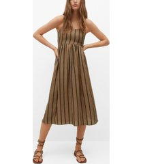 mango ramie-blend striped dress