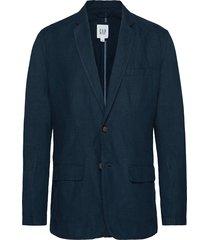 casual classic blazer in linen-cotton blazer kavaj blå gap