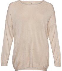 carkath l/s pullover knt stickad tröja creme only carmakoma