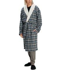 ugg men's kalib flannel plaid robe