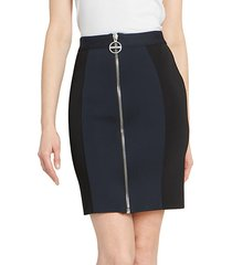 bicolor punto milano mini skirt
