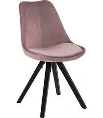 krzesło tapicerowane welwet marcus różowe