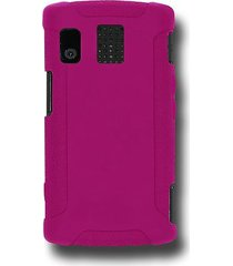 amzer silicone skin jelly case for kyocera/sanyo zio m6000 - hot pink