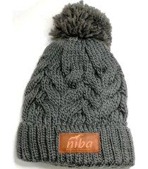 gorro de lana yacal gris niba