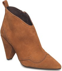 dextor shoes boots ankle boots ankle boot - heel brun kurt geiger london