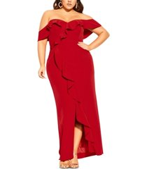 city chic trendy plus size savannah maxi dress