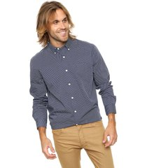 camisa gris tommy hilfiger reg-fit liclewisoval print shirt