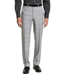 sean john men's classic-fit black and yellow plaid suit separate pants