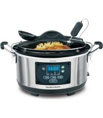 hamilton beach set and forget 6 qt. programmable slow cooker