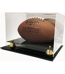 max deluxe uv protected acrylic full size football display case with mirror