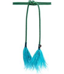 gianluca capannolo feather-tassel belt - green