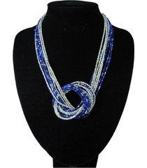 collar artesanal azul sasmon cl-12320