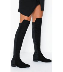 nly shoes mixed material thigh boot flat boots